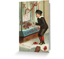 Wanted - A Boy To Lick Christmas Candy Cane Greeting Card