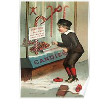 Wanted - A Boy To Lick Christmas Candy Cane Poster