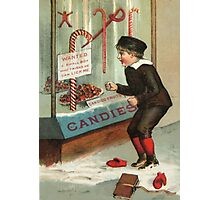 Wanted - A Boy To Lick Christmas Candy Cane Photographic Print