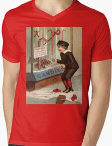 Wanted - A Boy To Lick Christmas Candy Cane Mens V-Neck T-Shirt