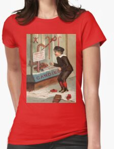 Wanted - A Boy To Lick Christmas Candy Cane T-Shirt