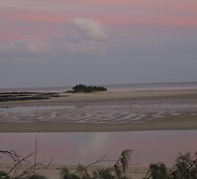 Reflection of Sunset (2) Elliott Heads, Bundaberg, Queensland. by Rita Blom