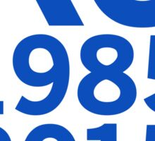 KC Royals 2015 Champions LARGE BLUE FONT Sticker