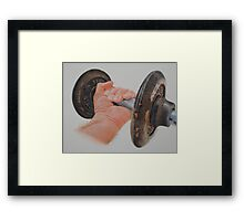 The old weight. Framed Print