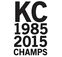 KC Royals 2015 Champions LARGE BLACK FONT Photographic Print