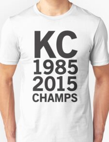 KC Royals 2015 Champions LARGE BLACK FONT T-Shirt
