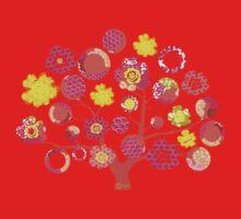 tree of life - pink & yellow Baby Tee