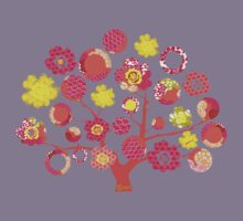tree of life - pink & yellow Kids Clothes