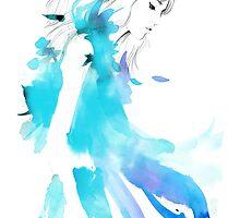 aqua feathers by mekel