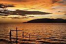 Golden Sunset with Broken Down Pier, Kota Kinabalu by Carole-Anne