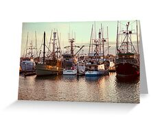 Commercial Fishing Boats Docked in San Diego Harbor Greeting Card