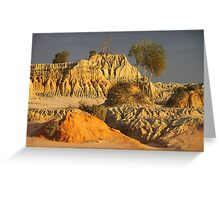 Ancient Forms at Sunset Greeting Card