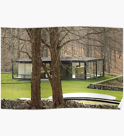 Mid Century Modern - Glass House Poster