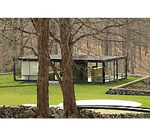 Mid Century Modern - Glass House Photographic Print