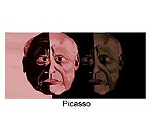 Picasso Now and Then Photographic Print