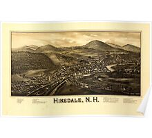 Panoramic Maps Hinsdale NH Poster