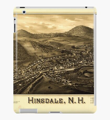 Panoramic Maps Hinsdale NH iPad Case/Skin