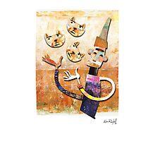 Cat Juggler Photographic Print