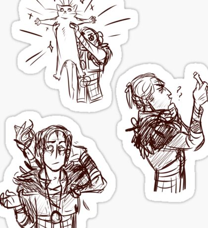 Dragon Age 2 Sketchy Anders Sticker Set Sticker