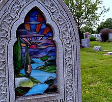 Stained Glass Tombstone in Color by Jane Neill-Hancock