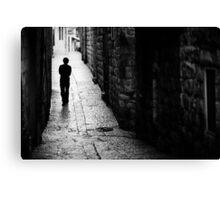 Jerusalem streets walker Canvas Print