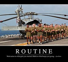 Routine: Inspirational Quote and Motivational Poster by StocktrekImages