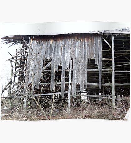 Old Tobacco Barn Side View Poster