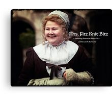 Mrs. Fitz Knit Bitz Canvas Print