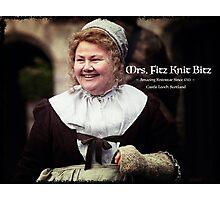 Mrs. Fitz Knit Bitz Photographic Print