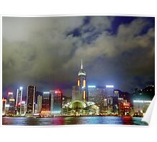 Hong Kong City Lights Poster
