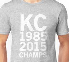 KC Royals 2015 Champions LARGE WHITE FONT Unisex T-Shirt