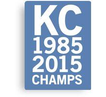 KC Royals 2015 Champions LARGE WHITE FONT Canvas Print