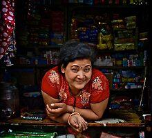 Nepali Lady by Valerie Rosen
