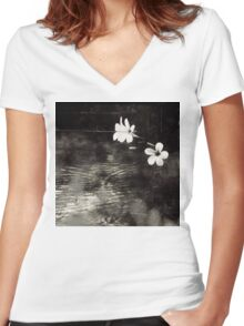 Vietnam ~ Blossoms Women's Fitted V-Neck T-Shirt
