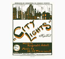 CITY LIGHTS (vintage illustration) Womens Fitted T-Shirt
