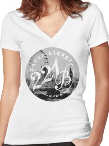 That Famous Address Women's Fitted V-Neck T-Shirt