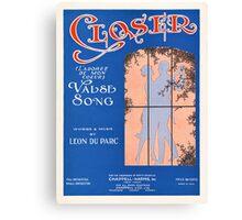 CLOSER (vintage illustration) Canvas Print