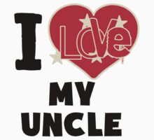 I Love My Uncle Kids Tee