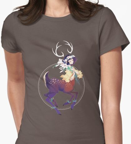 Fawn Womens Fitted T-Shirt