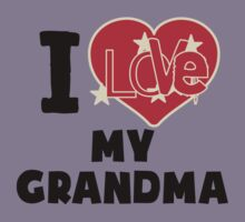 I Love My Grandma Kids Tee