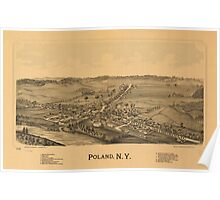 Panoramic Maps Poland NY Poster