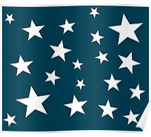 Star Spangled Prussion Blue Poster