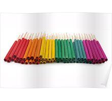 bright incense sticks Poster