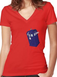 Palkia and Dialga: TARDIS Adventures! Women's Fitted V-Neck T-Shirt
