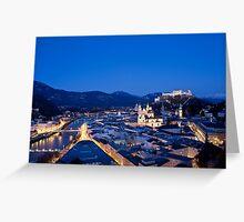 Blue Hour Salzburg Greeting Card
