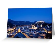 Blue Hour Salzburg Greeting Card