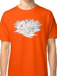 clouded snow leopard illustration Classic T-Shirt