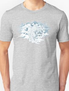 clouded snow leopard illustration Unisex T-Shirt