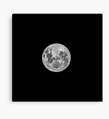 The night before the Full Moon Canvas Print