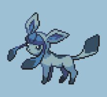 Glaceon 8-bit  by Lith1um